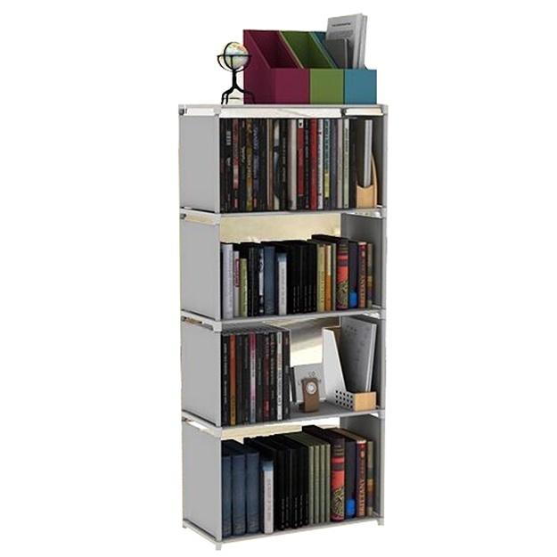 DIY Stationery Rack Rak Buku Kayu Rak Buku Portable Putih Lazada Source photo .