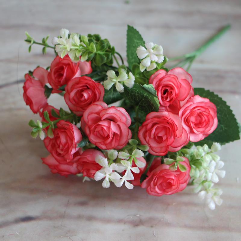 Bunga Mawar Merambat Palsu Buatan Garland Ivy Vine Gantung Garland untuk Dekorasi.