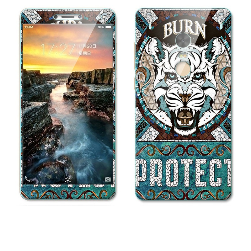 Luxury 3D Painting Front+Back Full Case Cover Color Tempered GlassCase For Xiaomi Redmi Note