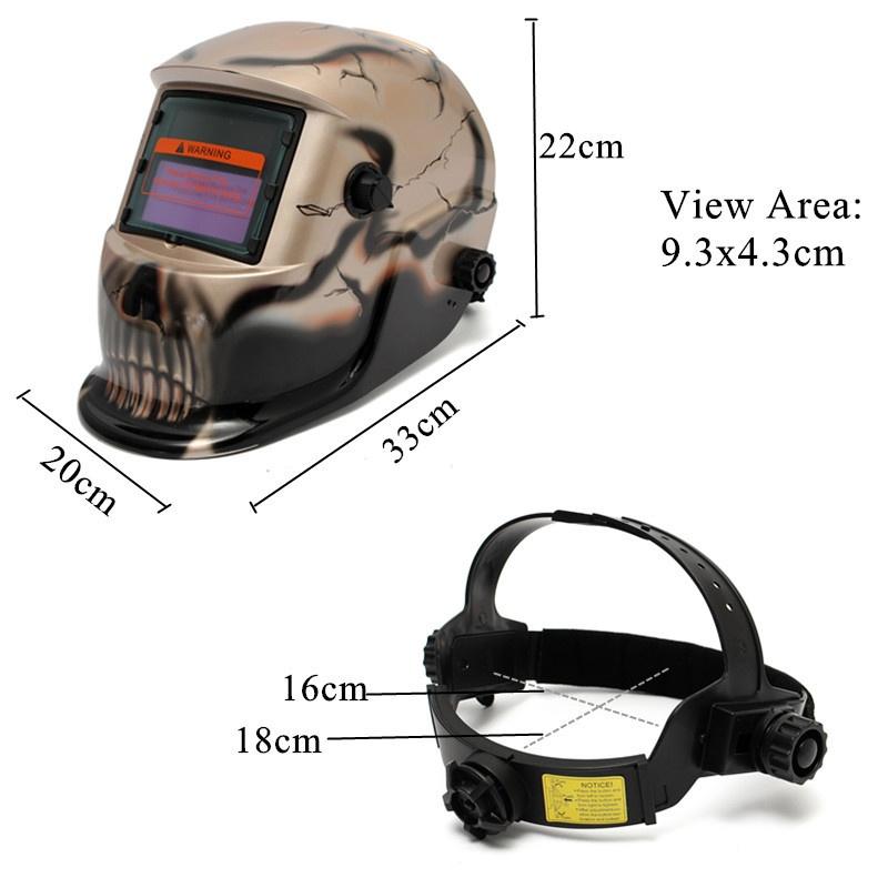 Panas Surya Pro Helm Topeng Las Otomatis Penggelapan Pengelasan ... - COS pelindung layar