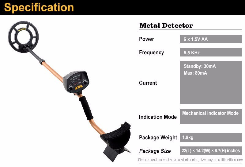 Professional Metal Detector MD3009II Underground Metal Detector Gold High Sensitivity - intl