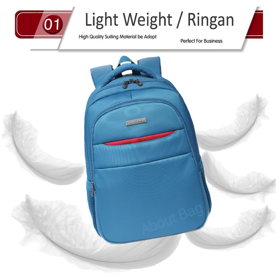 Real Polo Tas Ransel Laptop Tahan Air 8313 Backpack Up to 15 inch Bonus Bag Cover