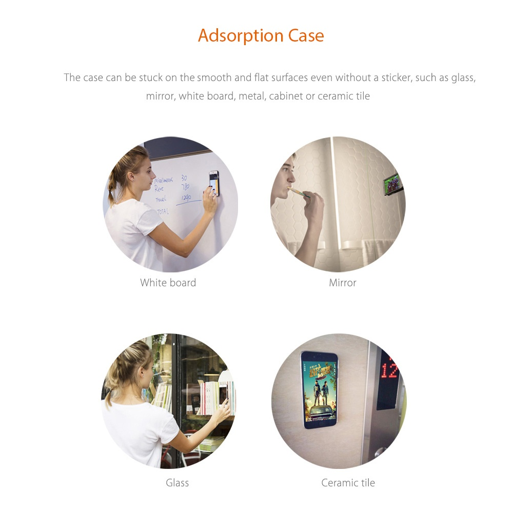 DOWA Anti-Gravity Selfie Case Magical Adsorption Transparent Protective Skin for iPhone 7