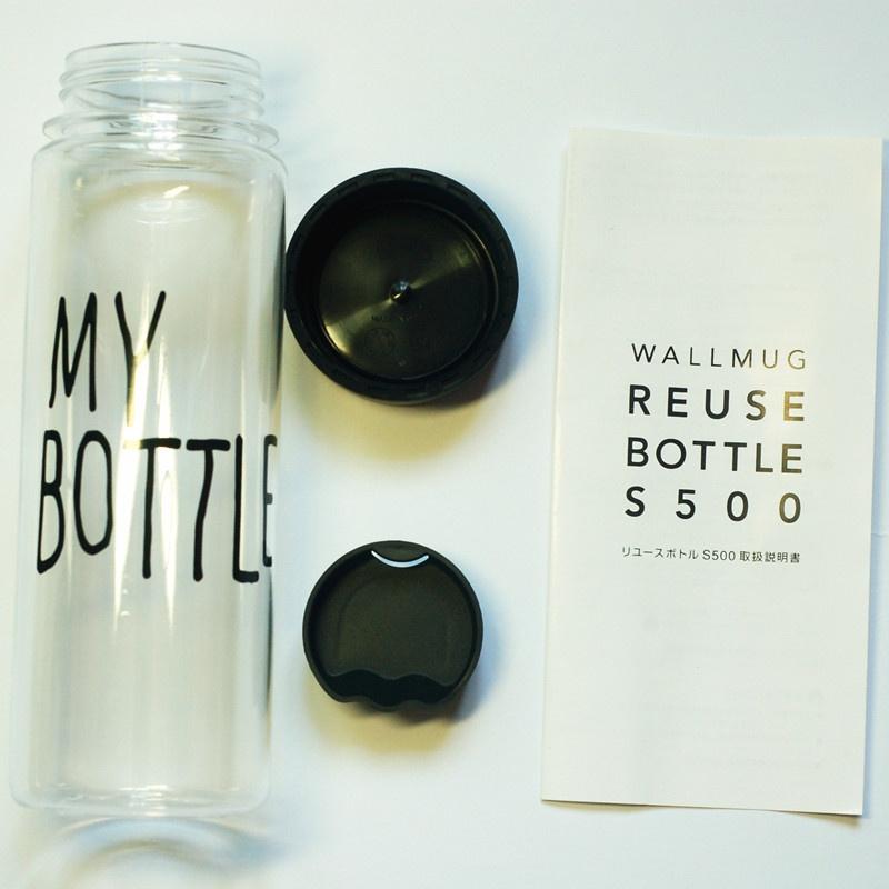 My Bottle NEW CLEAR Botol Warna Warni + TAS 500ml - Random