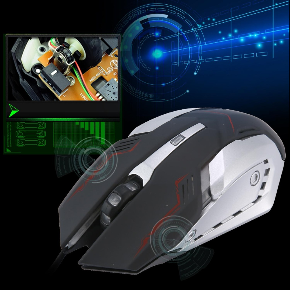 Leegoal Gaming Mouse Oxoqo Optical Usb Wired High Nyk G01 Ergonomic Design Comfortable And Great Hand Feeling Can Be Used For