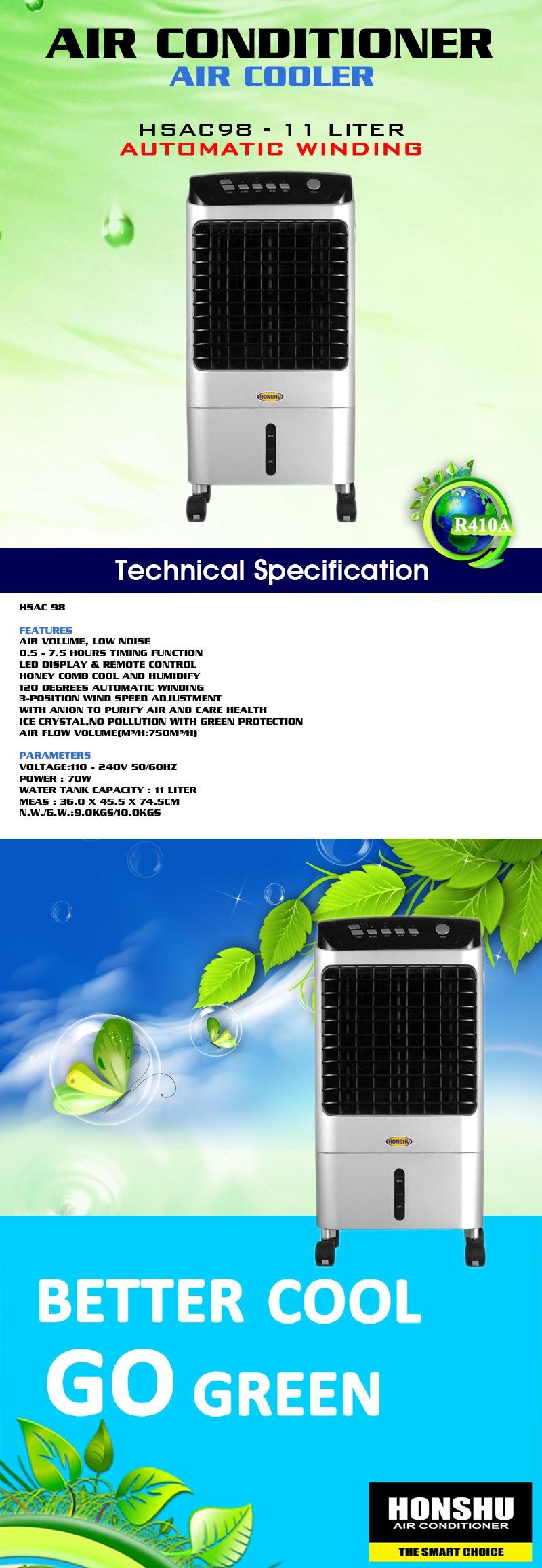 Daftar Harga Honshu Air Cooler Hsac98 11 Liter Flash Sale Sanyo Ref B130