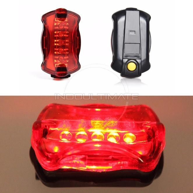 Katak Kepala Peringatan Source · Air Lampu Belakang Sepeda 5 Flash LED Senter .