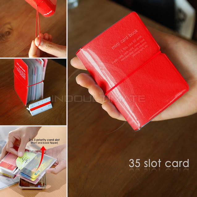 Detail produk dari 35 Slot PREMIUM Card Wallet/Dompet Kartu ATM/credit card OR 91-01 - Maroon