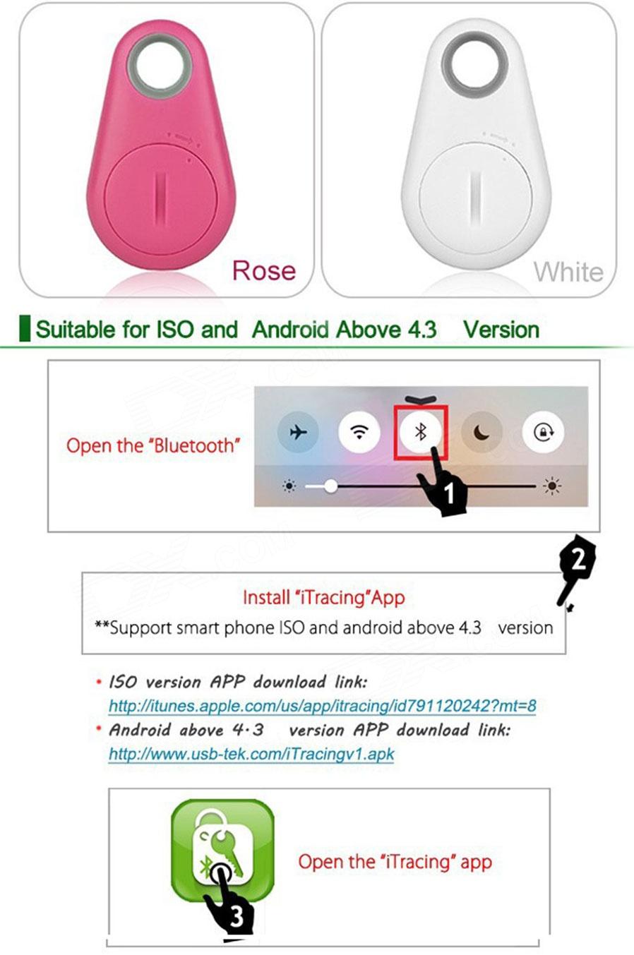 Bentuk Warna: Biru Bahan: ABS + silikon. Jumlah: 1 buah. Corak Warna: Biru Versi Bluetooth: Bluetooth v4,0. Jarak operasi: Waktu siaga: 6 bulan