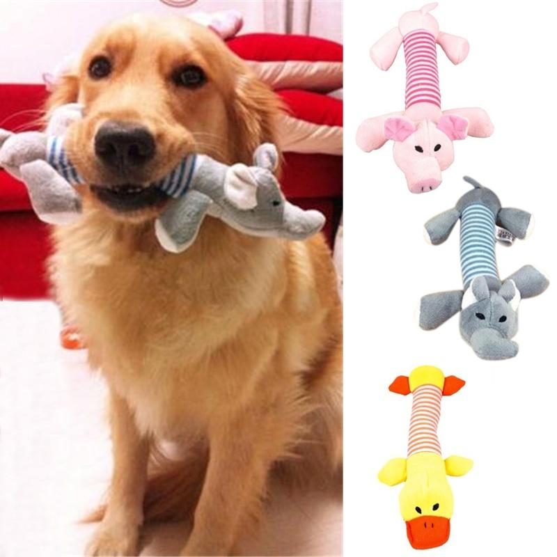 Lucu Anak Anjing Pet Anjing Mengunyah Tali Kepang Katun 2