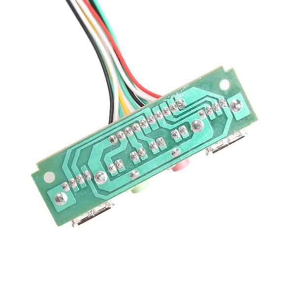 Kasus Komputer Pc Panel Depan Audio USB Port Kabel