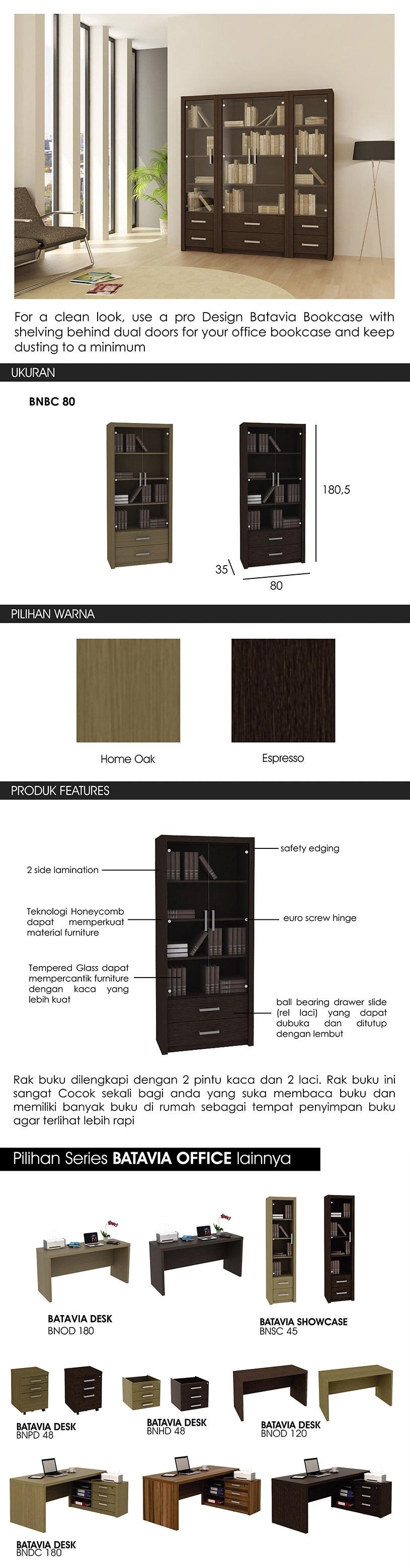 Pro Design Batavia Meja Nakas 2 Laci Espresso Khusus Jawa Bali Lemari Pakaian Pintu Dan Cermin French Walnut Rak Buku Kaca
