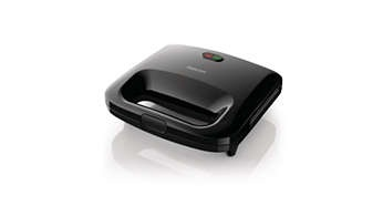Philips Daily Collection Sandwich Maker HD2393/92 Hitam