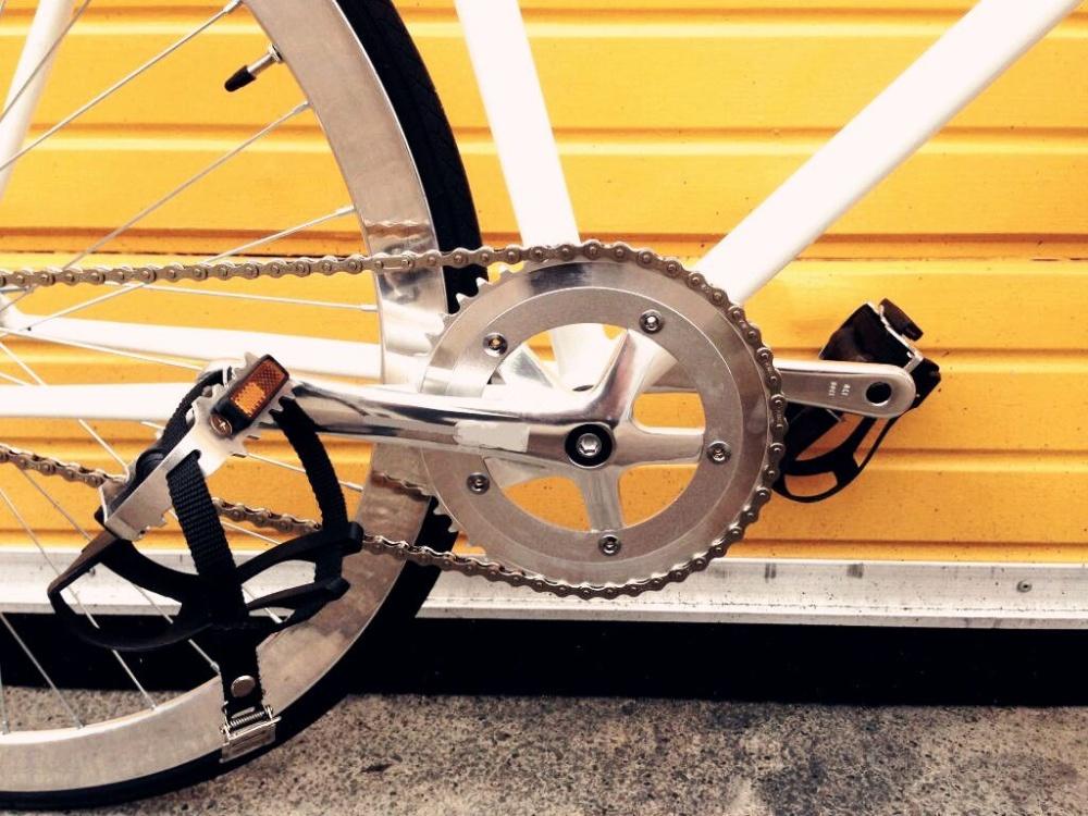 ... Spesifikasi Tahan lama paduan Fixie sepeda gunung sepeda kayuh kaki gunting tali