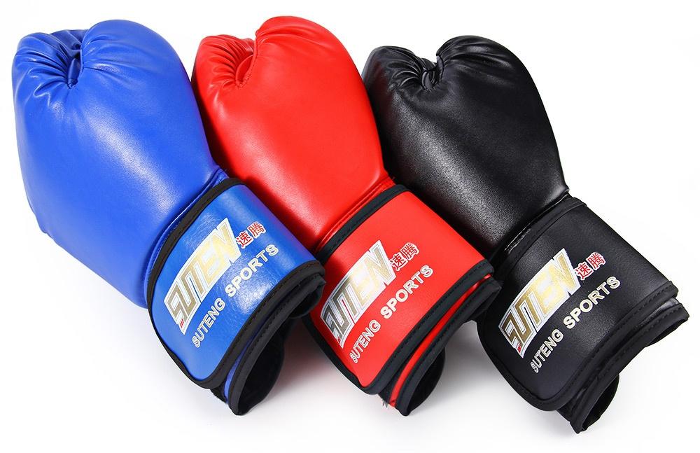 ... Isi paket 1 x SUTEN 1 pasang PU pelatihan tinju Kick Boxing berjuang