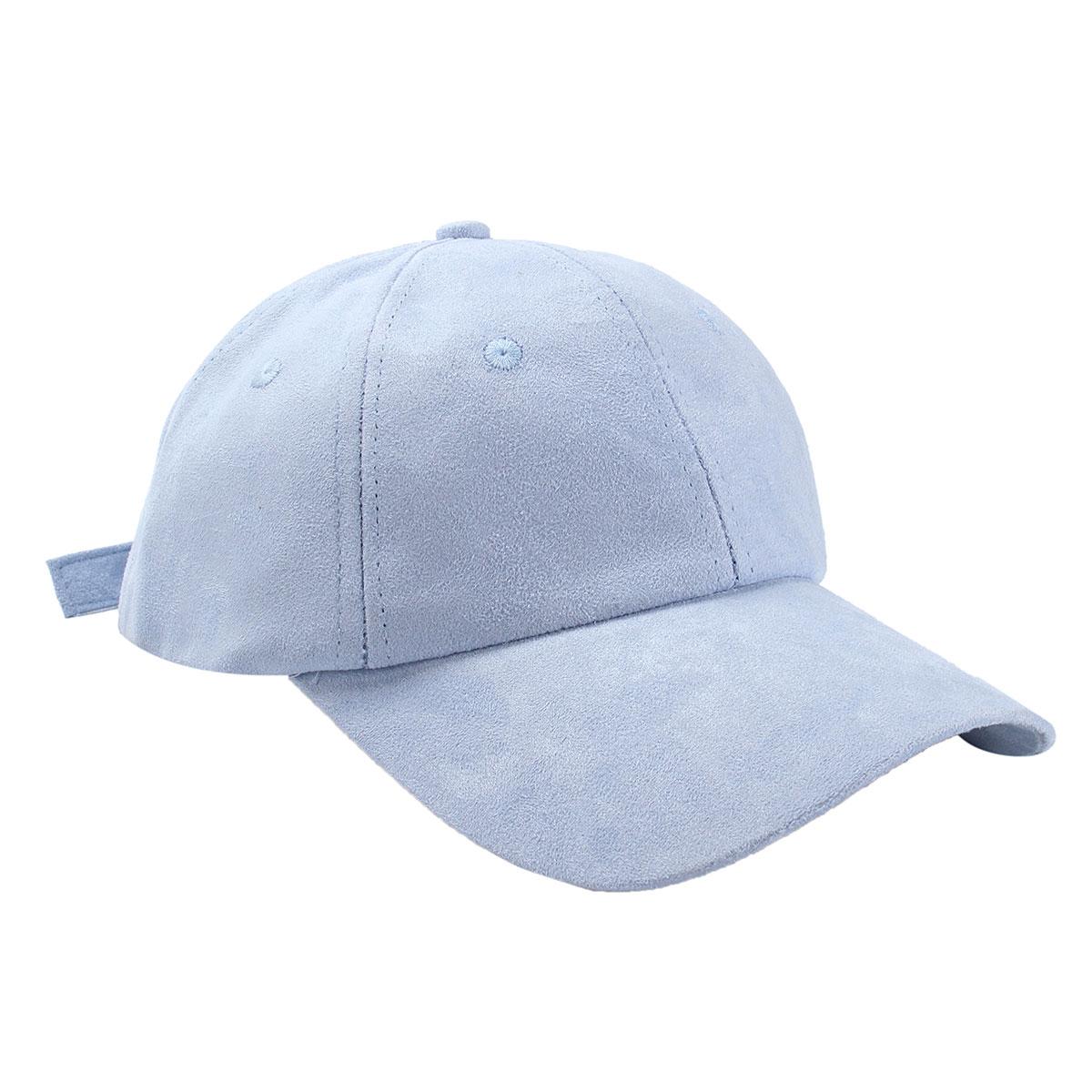 Uinn Adapula Yong Polo Fashion Gaya Orang Hat Topi Baseball Bahan Polos Mursidah Kesempatan Kasual Kulit Suede Warna Biru Muda Pola