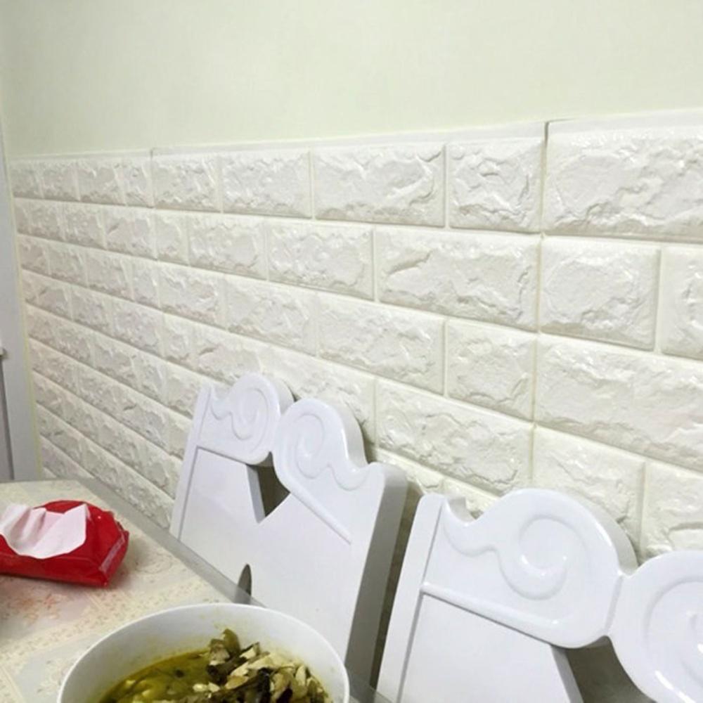 Allwin 3D Pola Batu Bata Dinding Kamar Tidur Dekorasi