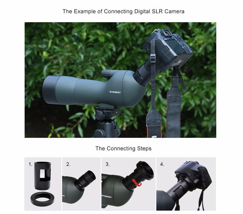 Eyeskey 60 meningkat tinggi kejelasan teleskop malam VisionTeleskop Teropong kolam berburu burung menonton satwa liar ...