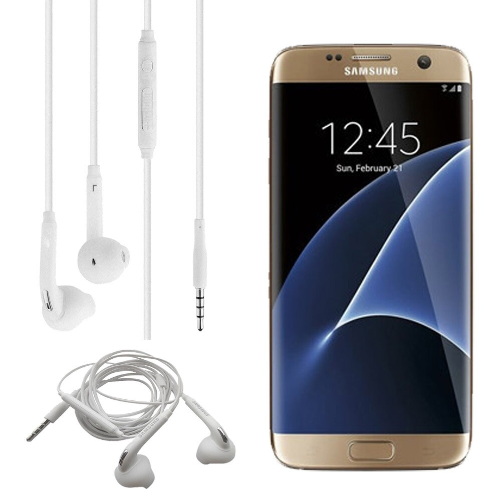 Detail produk dari Samsung Handsfree Headphone Galaxy Note7/ S7/ S7 edge In-Ear Earphone Control w/ Mic Original - Putih