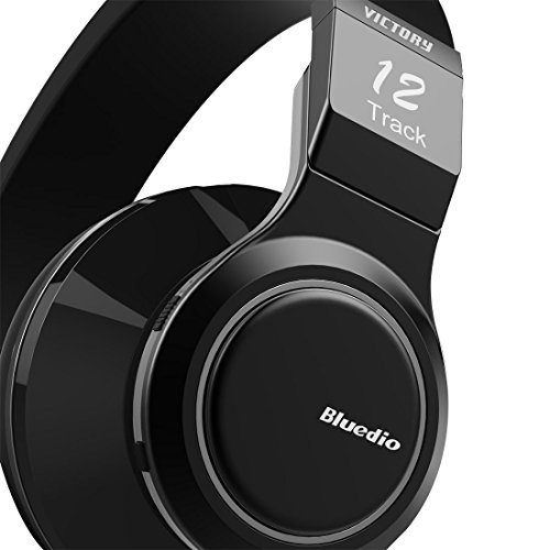 Bluedio V (Victory) Pro Patented PPS12 Drivers Wireless Bluetooth headphones (Black).