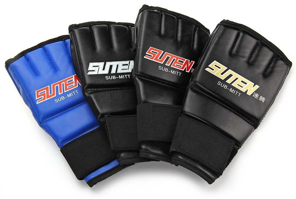 One Pair Gym Thai Sparring Training Boxing Punch Ultimate Mitts Fingerless Gloves