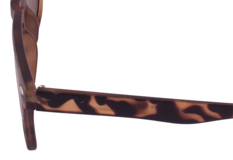 JRS Kacamata Unisex Tortoise Persegi Panjang Proteksi UV 400 Lensa Gold J01AS1163