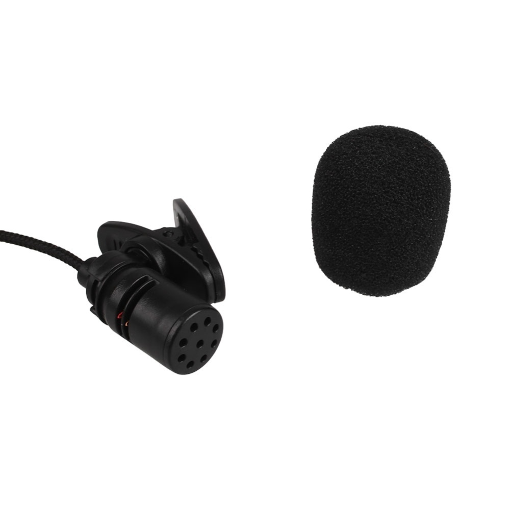 Mini Clip-On Lapel Wired Double Track Microphone MIC For SmartPhones PC - intl