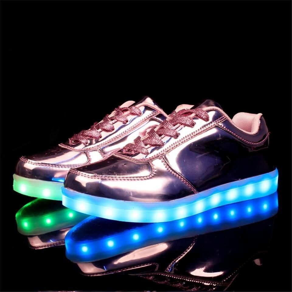 LED Sepatu Light Up Kids Girls Boys Bernapas Berkedip Sneakers (Biru)-Intl. c7338929e6