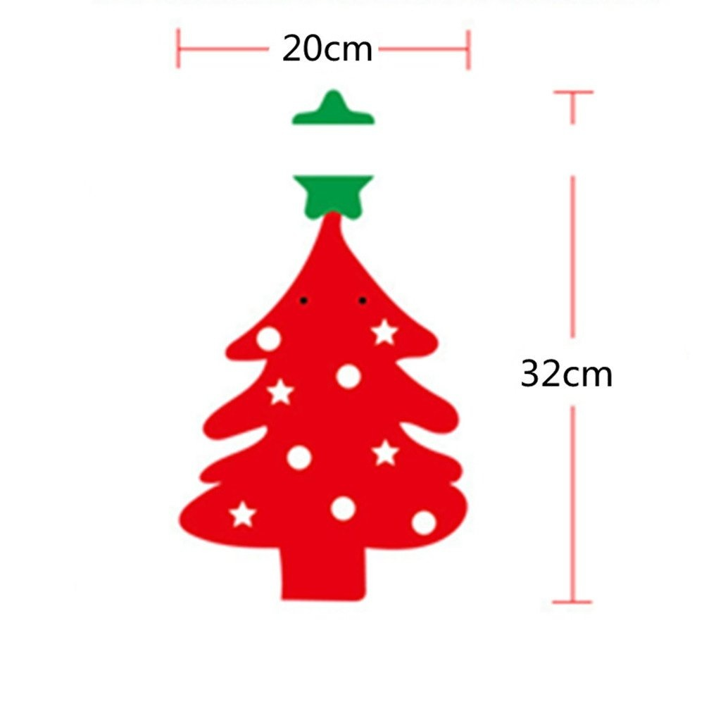 8pcs/strip XM Card Paper Christmas Tree Christmas Decorate Banner Christmas Decoration