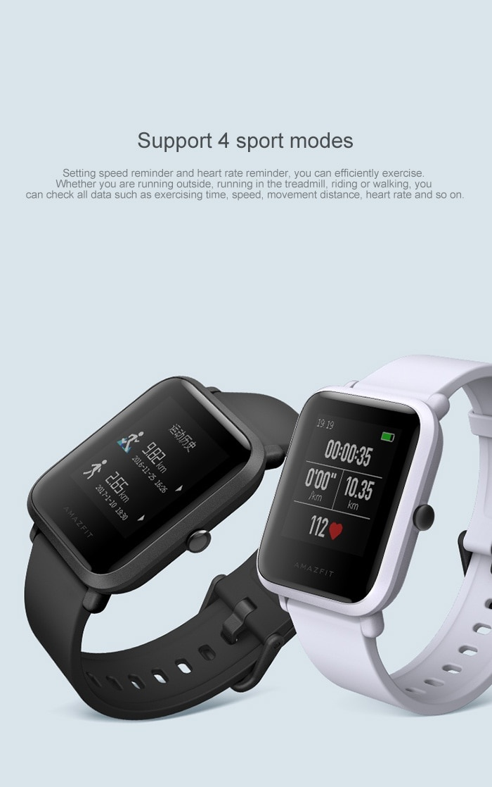 Original Xiaomi Huami AMAZFIT Smartwatch Chinese Version with Corning Gorilla Glass Screen IP68 Waterproof Heart Rate / Sleep Monitor Geomagnetic Sensor GPS