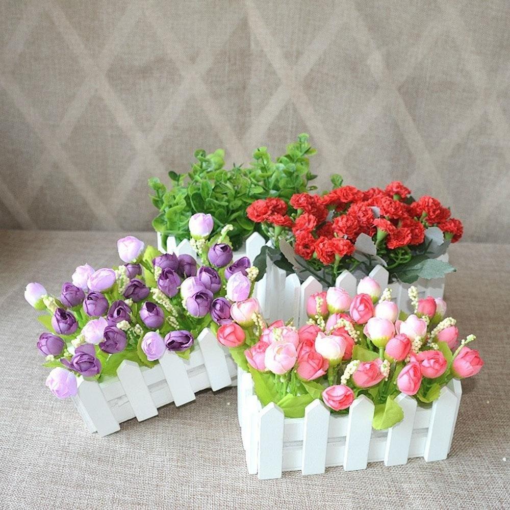 Artificial bunga rose cantik dengan pot persegi panjang - 3. Source · Play  your creativity 60b2551bd9