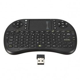 Keyboard Wireless 2.4GHz dengan Touch Pad & Fungsi Mouse - Black - 6