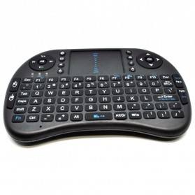 Keyboard Wireless 2.4GHz dengan Touch Pad & Fungsi Mouse - Black - 1