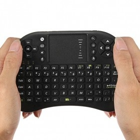 Keyboard Wireless 2.4GHz dengan Touch Pad & Fungsi Mouse - Black - 2