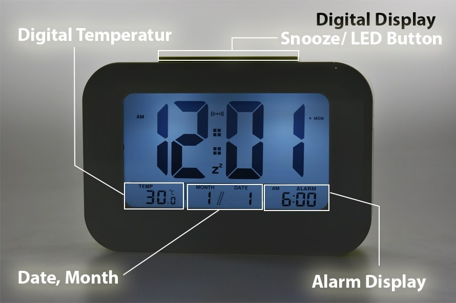 Jam Beker - Weker Alarm Digital Display Colorfull With LED Smart Clock.