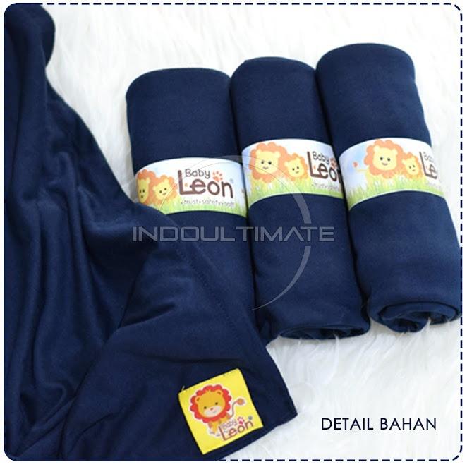 BABY LEON GENDONGAN Bayi Kaos/Geos/selendang Bayi Praktis BY 44 GB Polos Ukuran M - Navy Blue