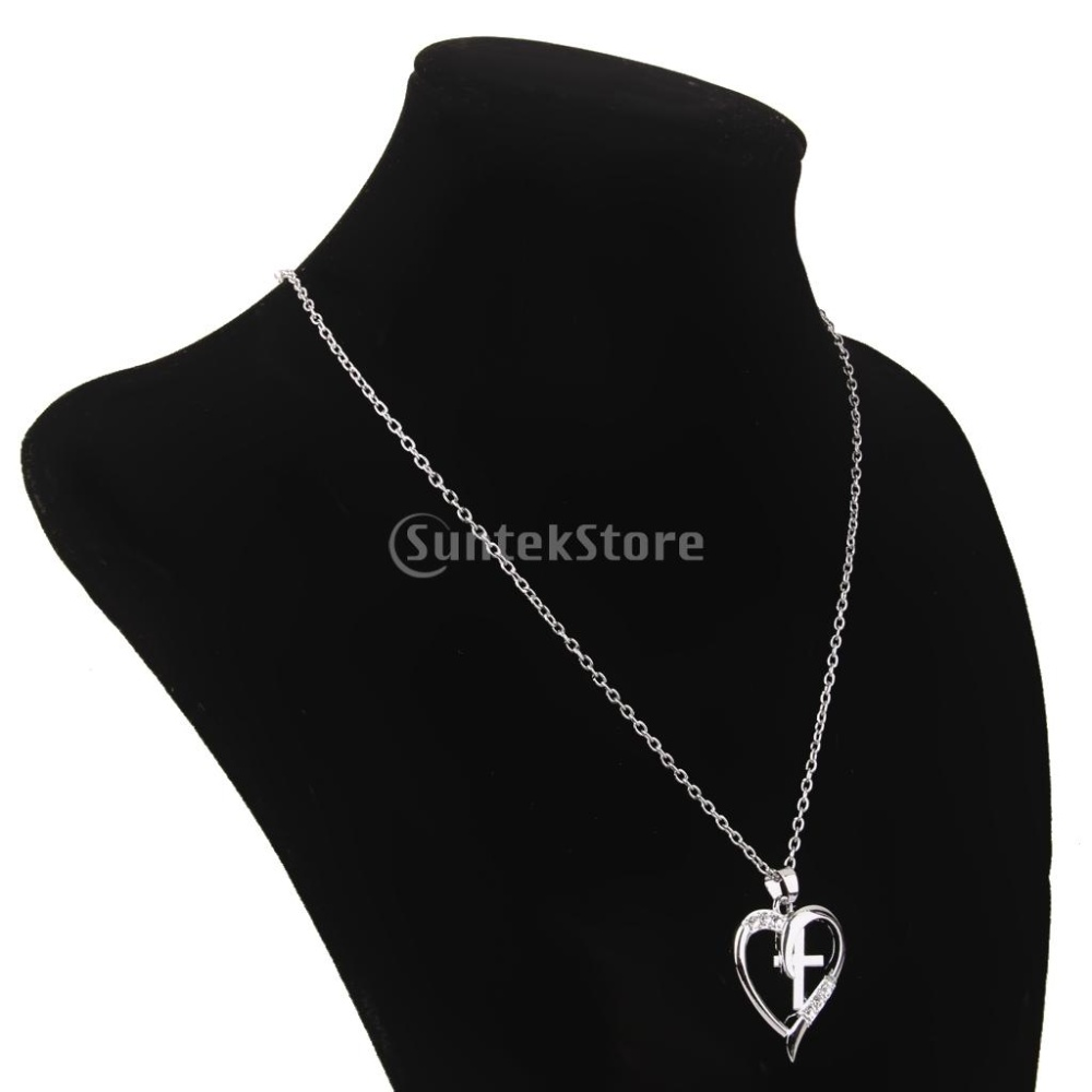 Beli Kalung Berlian Imitasi Kristal Hati Liontin Salib Harga Rp 45900 Black 1 X Necklace