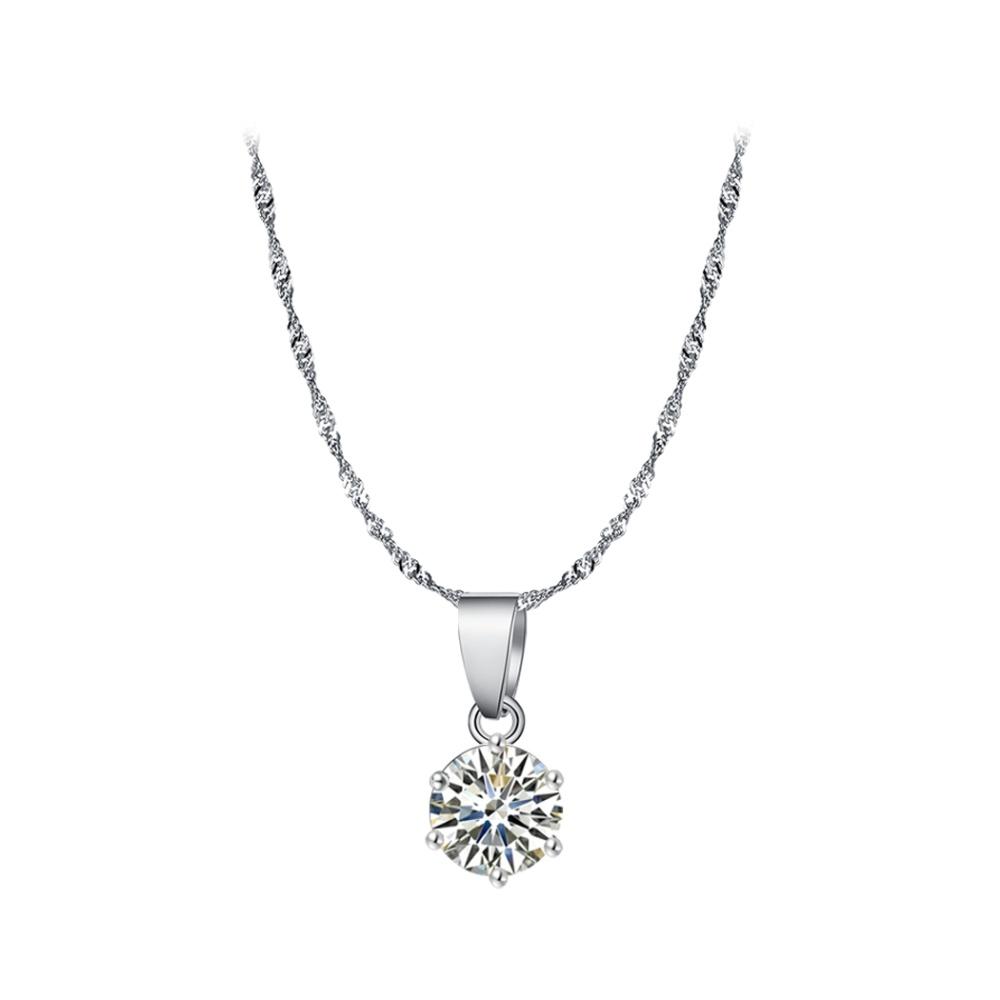 Harga Jual Cyber Wanita Klasik 3 Buah Kalung Berlian Imitasi Anting 1 Set Perhiasan Image