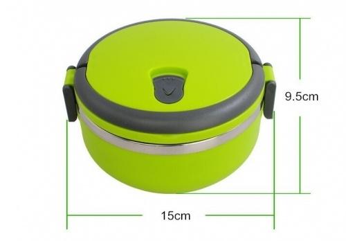 Rantang 1 Susun Tempat Kotak Makan Stainless Lunch Box Karakter Polos. Memiliki handle pada bagian atas untuk memudahkan pengguna membawa.