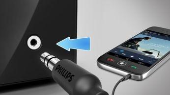 Audio-in untuk koneksi mudah di hampir semua perangkat elektronik apa pun