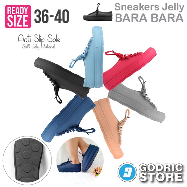 Bara Bara Sepatu Jelly Sneakers Silikon Shoes Cewek Silicone Kets ... 008e5525ef