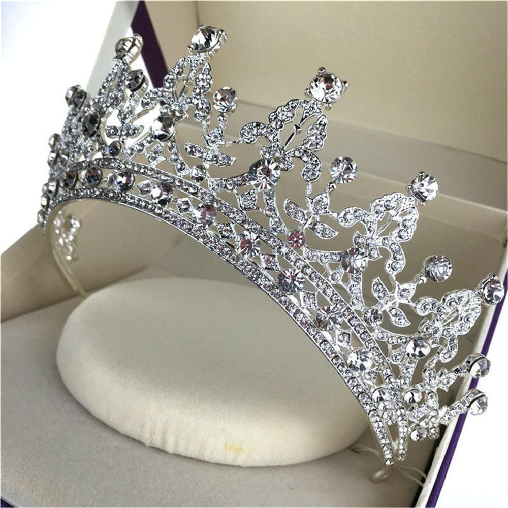 TINKSKY Prom pernikahan pengantin payet kristal mahkota Tiara destar (Silver) - International - International ... Source · Â