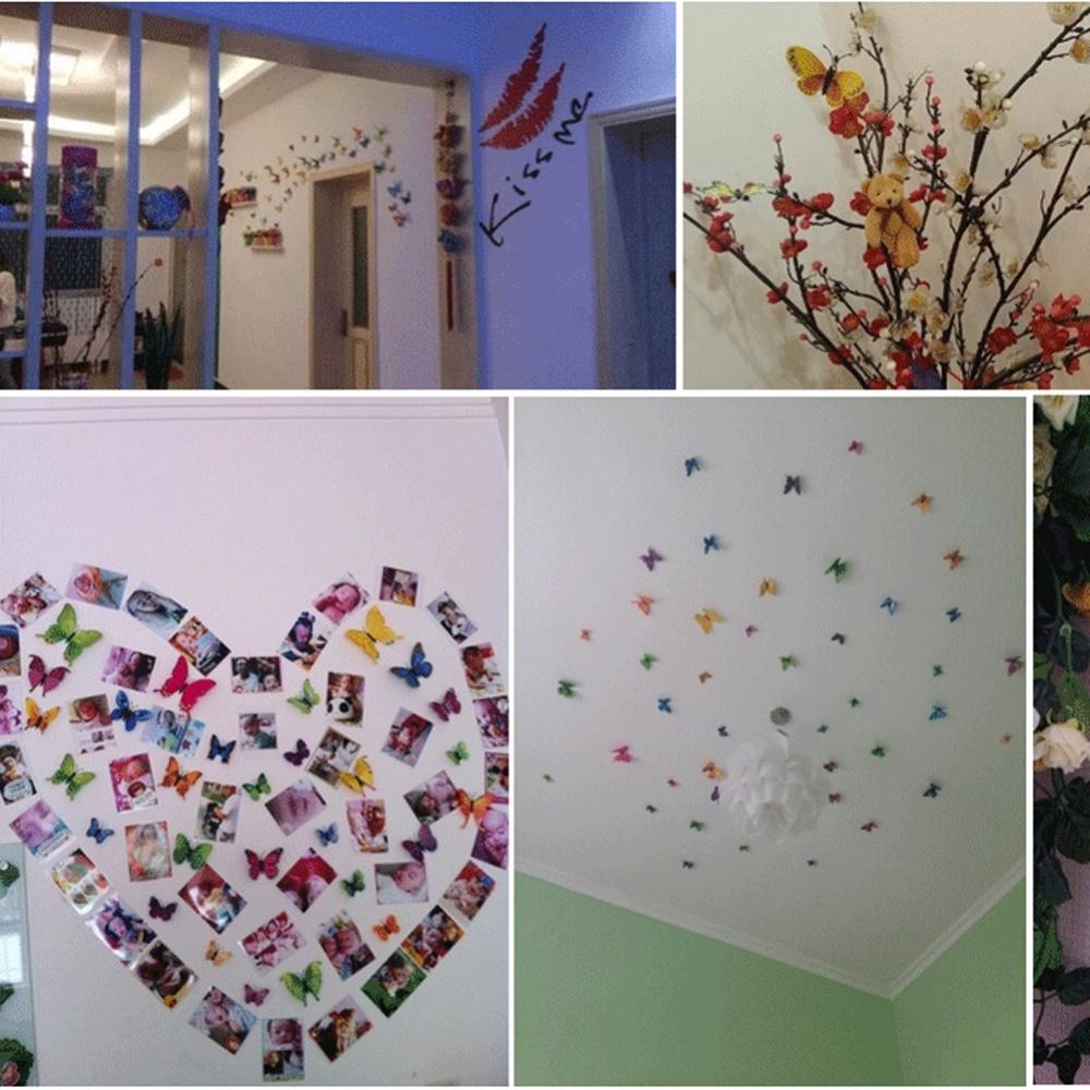 Buytra 3D Wall Sticker Dekorasi Rumah Kupu-Kupu 12 Buah Biru Muda. Source ·