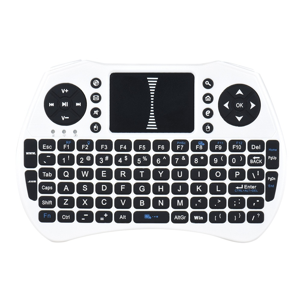 This is a 2.4GHz wireless mini QWERTY keyboard and TouchPad combo, with USB interface