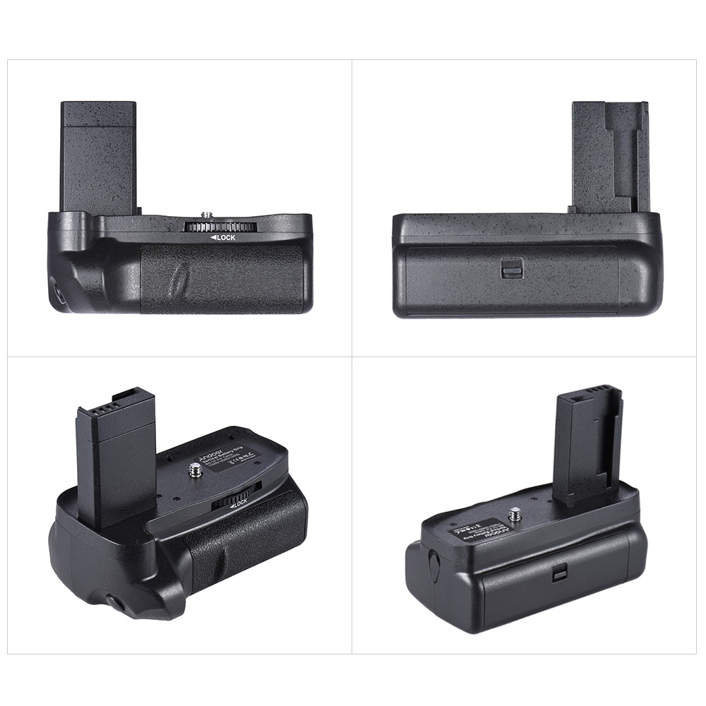 Pro battery grip for Canon EOS 1100D 1200D 1300D / Rebel T3 T5 T6 / kiss X50 X70 cameras. Can hold one or two LP-E10 battery to prolong your shooting time.