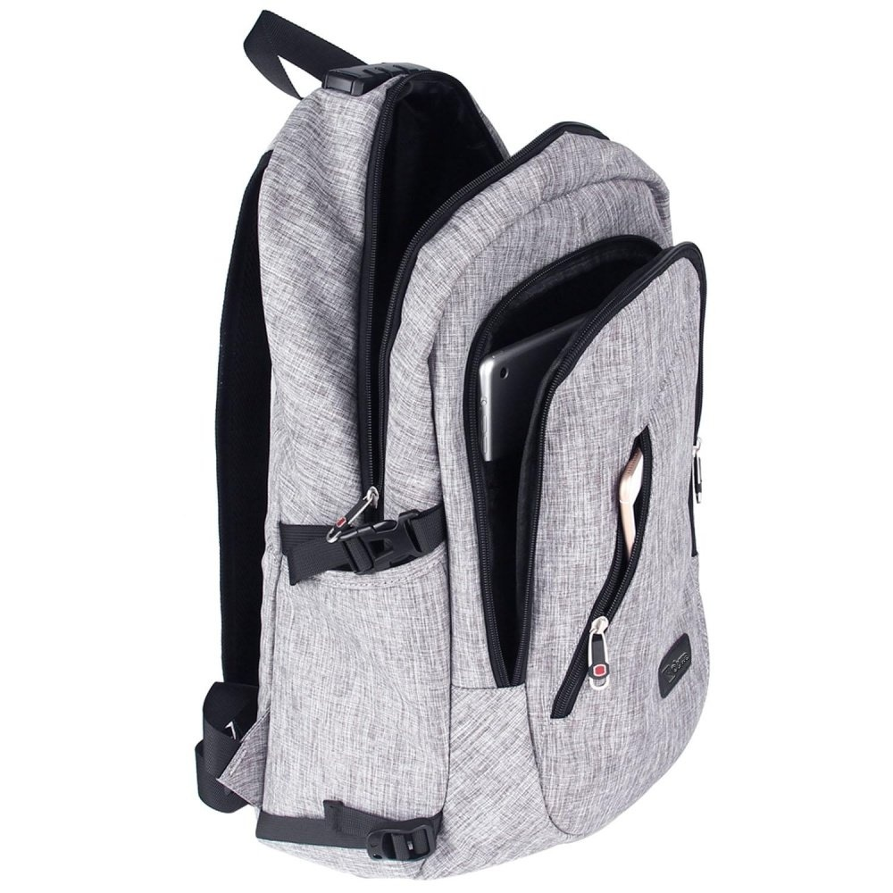 Real Polo Tas Ransel Laptop Tahan Air 8315 Backpack Up to 15 inch Bonus Bag Cover