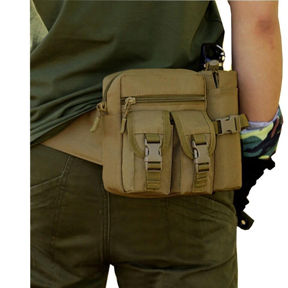 Spesifikasi dari Tas Pinggang dengan Tempat Botol Tactical Army - Coklat