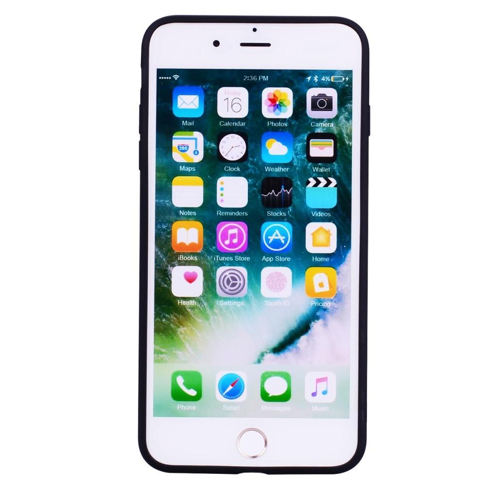 ... Untuk iPhone 7 Plus 5.5 inch Matte anti fingerprint TPU ponsel Casing - hitam ...