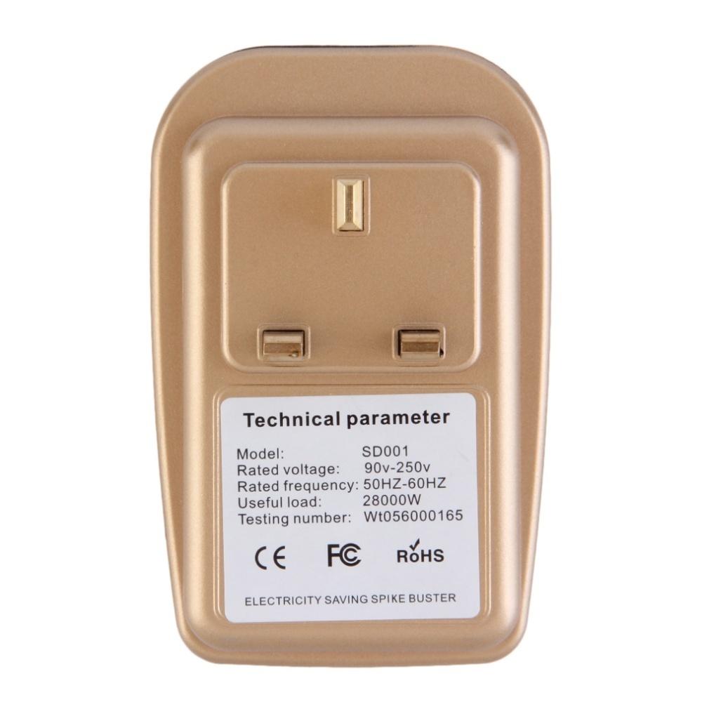 Oh 90-250 V Rumah Cerdas Hemat Energi Tenaga Listrik Penghemat Steker UK Kotak Putih