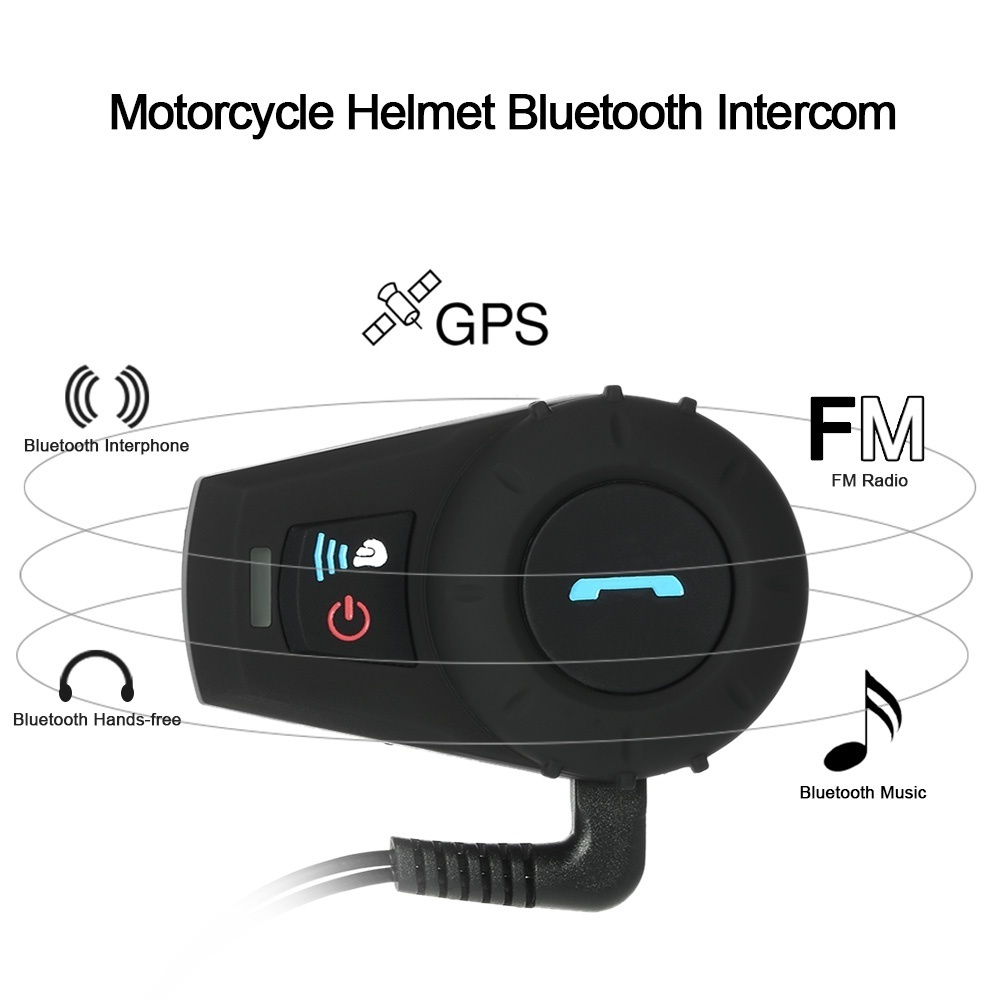 Motorcycle Helmet Wireless Bluetooth Intercom resolves your communication problem when riding a motorcycle. It's convenient